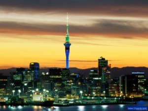 Evening Glow Auckland New Zealand